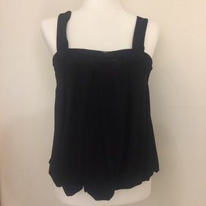 Express Black Mesh Sequin Tank Top Size S